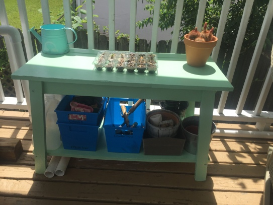 DIY Upcycled Potting Bench